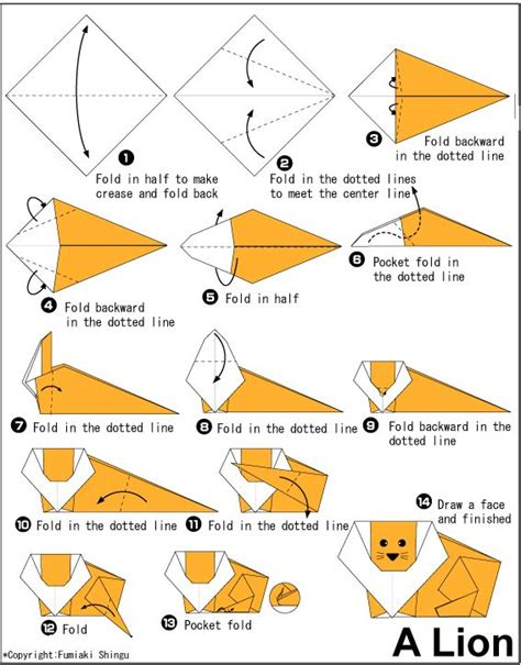 tutorial origami lion 25 best ideas about lion origami on pinterest giraffe