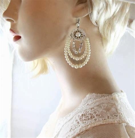 Bridal Chandelier Earrings With Pearls Bridal Pearl Chandelier Earrings Silver Rhinestone Wedding Chandelier Bridal Earrings Silver