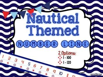 theme line original nautical theme number line set by the teaching texan tpt