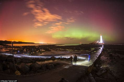 Northern Lights Aurora Borealis Over Gloucestershire Lights In Newcastle