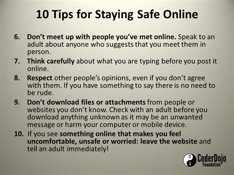 10 Tips On How To A On A Date by Tips For Staying Safe Coderdojo Athenry
