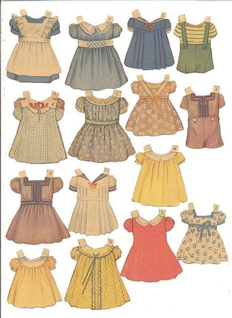 How To Make Paper Doll Dresses - holden paper doll clothes cottage