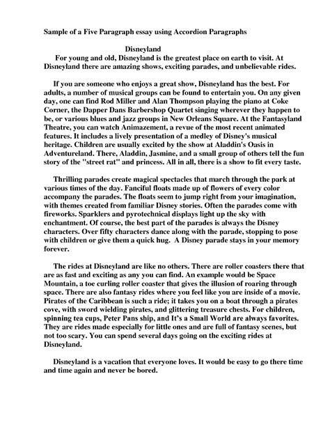 5 paragraph essay exle world of exle