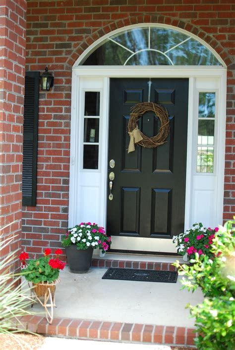 plain front door painted black home decorating ideas