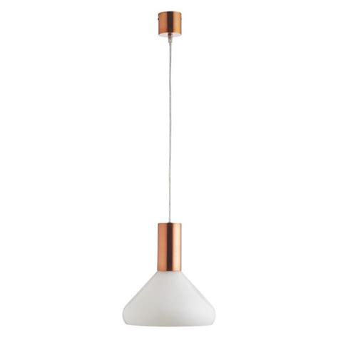 white glass pendant light marlowe white glass and copper ceiling light brown glass