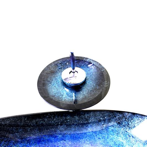 blue glass vessel sink blue starry like glass vessel sink with faucet and drainer