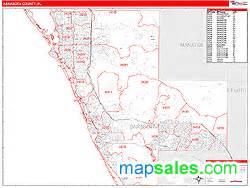 sarasota florida zip code map sarasota county fl zip code wall map line style by