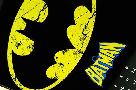 design kalender retro batman logo nostalgie blechschild im retro design magnet