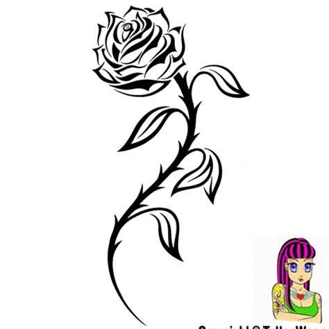 tattoo design rose tribal tribal rose tattoo picture tattoowoo com