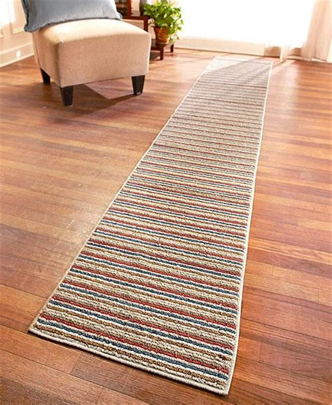 Floor Runner Rugs Nonslip Striped Floor Runner Rug In Spice 60 Quot 90 Quot Or 120 Quot Ebay