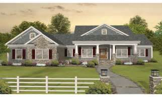 craftsman one story ranch house plans one story craftsman
