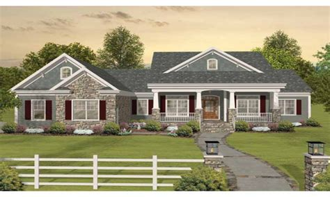 craftsman one story ranch house plans craftsman one story