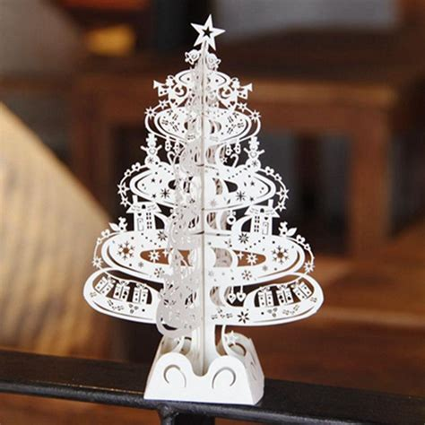 Aliexpress Com Buy 10pcs Christmas Tree Gifts 3d Laser Cut Pop Up Cards Decoration Greeting Laser Cut Pop Up Card Template