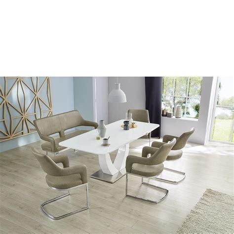 esszimmertisch sockel esstisch komfort wei 223 beton sockel in edelstahl