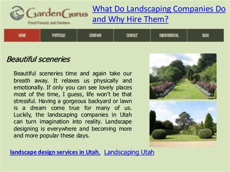 what do landscaping companies do and why hire them