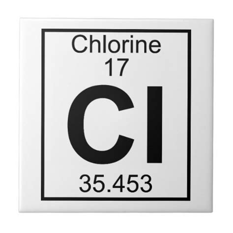 Decorate Home Office by Element 017 Cl Chlorine Full Ceramic Tile Zazzle