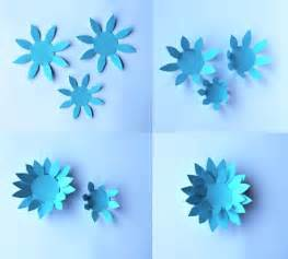 Easy Flower Template by Paper Flowers Classroom Craft Activity Easy Make Paper