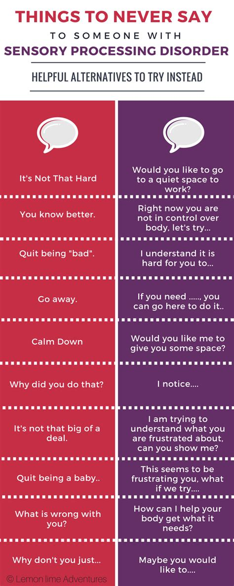 7 Things Never To Say To Your by 10 Things To Never Say To A Person With Sensory Processing