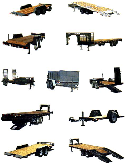 types of trailers 4x4 trucks and trailers