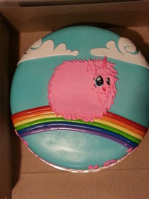 pink fluffy unicorn dancing  rainbows cakes   pinterest   unicorn cakes