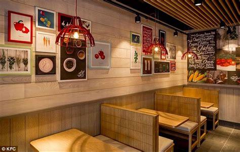 kfc store layout kfc unveils new store designs featuring brick walls