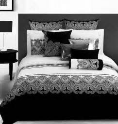 3d vintage black and white paisley bedding comforter set