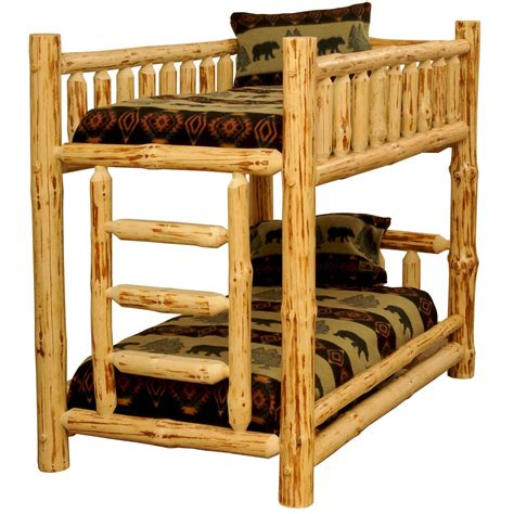 rustic log beds rustic pine log bunkbeds big bear lodge bunk beds the