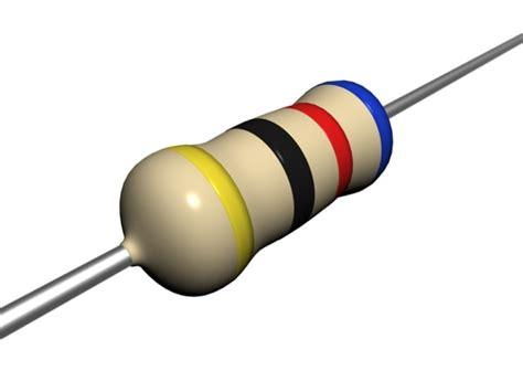 carbon resistor carbon resistor 3d model