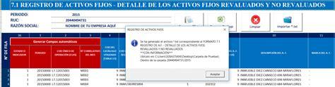 formato registro de activos fijos sunat formato 7 1 7 3 y 7 4 registro de activos fijos libros