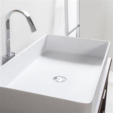 lavandino bagno da appoggio cip 236 lavandino da appoggio in resina bianco semplice a