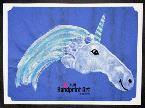 Baby Bedroom Ideas sparkly footprint unicorn craft fun handprint art