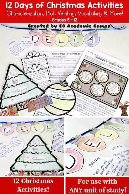 christmas activities for new students activities for 6th grade language arts the best of entrepreneurs december