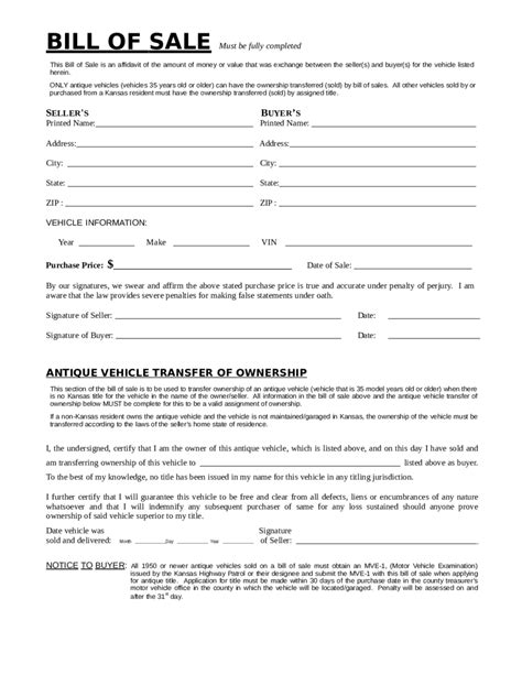 2018 dmv bill of sale form fillable printable pdf