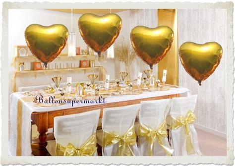 Deko Goldene Hochzeit by Ballonsupermarkt Onlineshop De Gro 223 Er Herzluftballon Aus