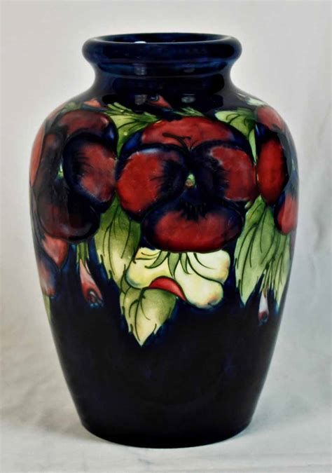 Moorcroft Pansy Vase by A Moorcroft Pansy Pattern Vase A Significant