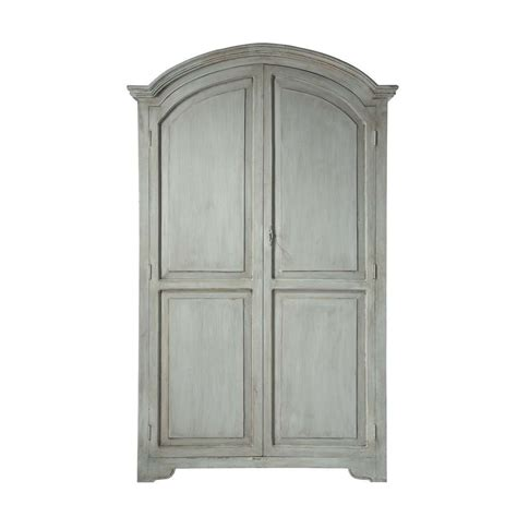 Grey Wardrobe Armoire Mango Wood Wardrobe In Pearl Grey W 130cm R 233 My