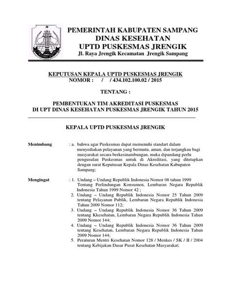 sk tim akreditasi pkm jrengik