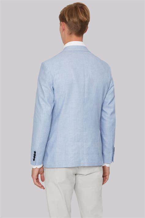 Linen Cotton Jacket hardy amies sky linen cotton jacket