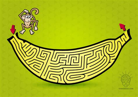 printable monkey maze monkey maze printable pictures to pin on pinterest pinsdaddy