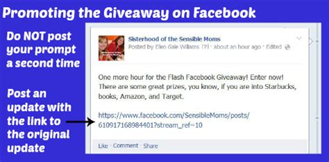 Giveaway On Facebook - how to run a facebook flash giveaway sisterhood of the sensible moms