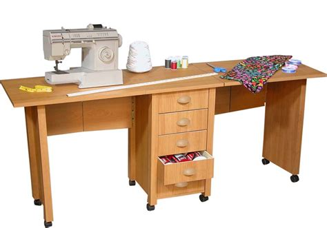Folding Craft Desk by Folding Mobile Desk Wheels Sewing Craft Table Sewing Table New Ebay