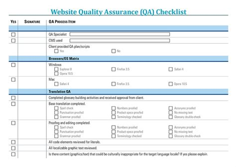 Website Translation Quality Assurance And Client Review Process Qa Website Template