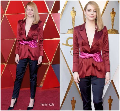 emma stone vuitton emma stone in louis vuitton 2018 oscars fashionsizzle