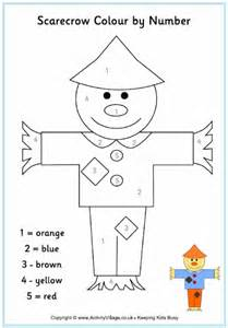 Printable Dot To Dot Scarecrow Colour By Number