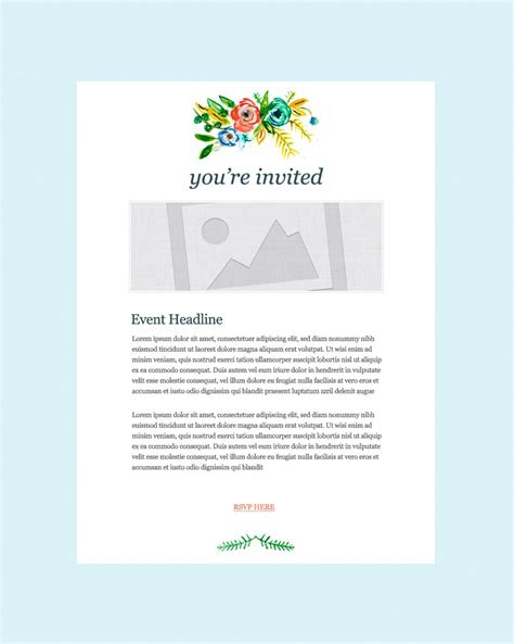 Invitation Email Marketing Templates Invitation Email Templates Emma Email Marketing Invitation Email Template