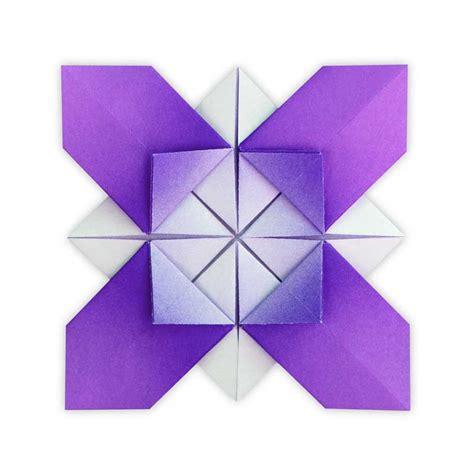 Origami X - origami flower x ali bahmani folded by zusanna woe ez