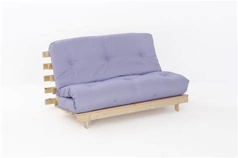 Sofa Bed With Thick Mattress 4ft6 Premium Luxury Futon Wooden Sofa Bed Thick Mattress 11 Colours Ebay