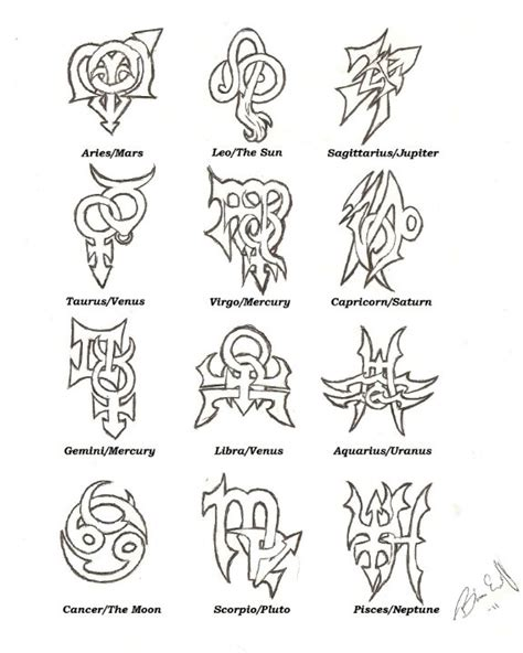 my zodiac tattoo designs tattoo that rock
