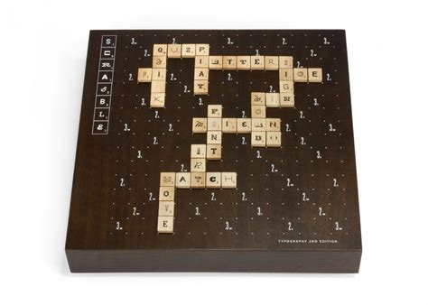 scrabble onyx scrabble typography edition the coolector