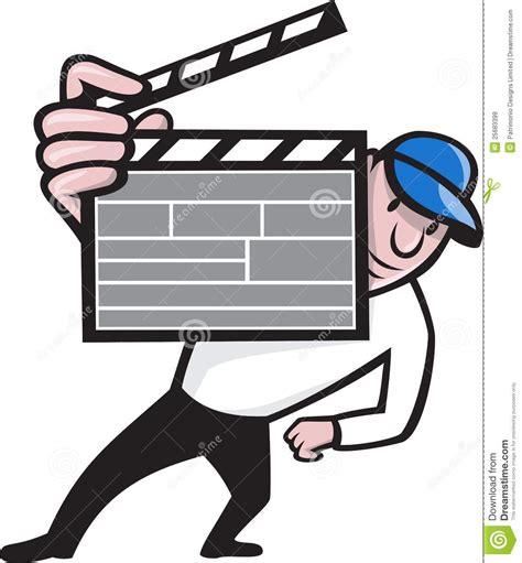 film cartoon gratis director with movie clapboard cartoon stock vector